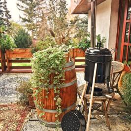 Maroni-Ofen für unsere Terrasse im Winter